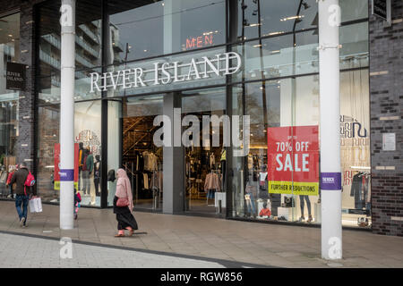 River Island shop front exterior in Bury Lanchashire - Stock Photo