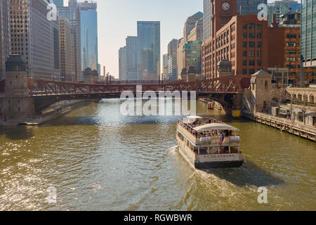 CHICAGO, USA - CIRCA APRIL, 2016: Chicago urban landscape at daytime. Chicago is the third-most populous city in the United States - Stock Photo