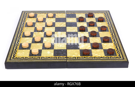 checkers are isolated on a white background - Stock Photo