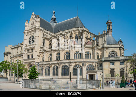 France, MAY 7: Exterior view of the famous Church of St Eustache on MAY 7, 2018 at Paris, France - Stock Photo