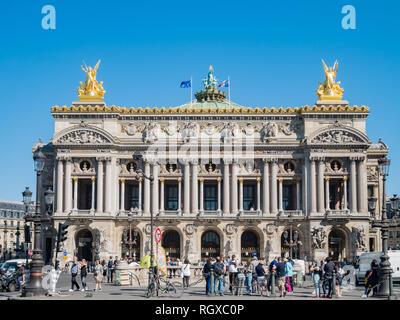 Paris, MAY 7: Exterior view of the Palais Garnier on MAY 7, 2018 at Paris, France - Stock Photo
