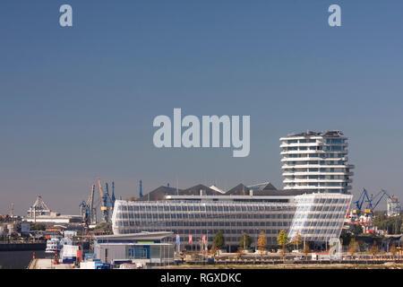 Marco Polo Tower, Unilever House, HafenCity, Hamburg, Germany, Europe - Stock Photo