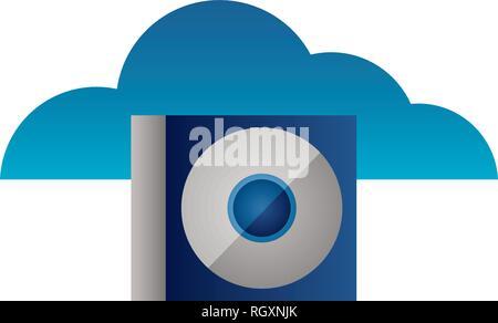 cloud computing compact disk drive - Stock Photo