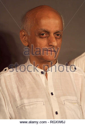 Bollywood filmmaker Mukesh Bhatt during a press conference announcing the South Africa India Film and Television Awards (SAIFTA) in Mumbai, India on July 15, 2013. (Shailesh Andrade) - Stock Photo