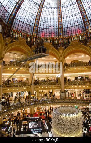 Galeries Lafayette flagship store. Paris, January 27th, 2019 - Stock Photo