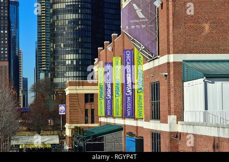Chicago, Illinois, USA. The Chicago Children's Museum located at the west end of Navy Pier. The musem dates from 1982. - Stock Photo