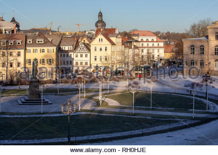 Coburg, Germany. 31st Jan, 2019. Cold, crisp weather in Coburg, Germany after a light snowfall. Temperatures are forecast to drop slightly in the next few days. Credit: Reallifephotos/Alamy Live News - Stock Photo