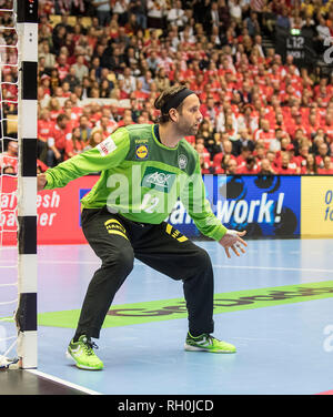 goalkeeper Silvio HEINEVETTER (GER) action. Third place, Germany (GER) - France (FRA) 25:26, 27/01/2019 in Herning/Denmark Handball World Cup 2019, from 10.01. - 27.01.2019 in Germany/Denmark. | usage worldwide - Stock Photo