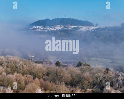 Bolehill, Wirksworth, Derbyshire Dales. 31st Jan 2019. UK Weather: Bolehill in the snow on a very cold winter day, Bolehill, Wirksworth, Derbyshire Dales Credit: Doug Blane/Alamy Live News - Stock Photo