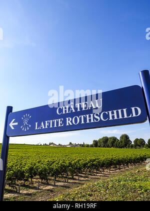Chateau Lafite Rothschild - Stock Photo