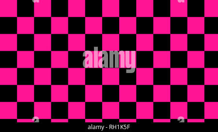checkered pink & black squares light pink and deep black seamless pattern - Stock Photo