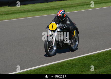 On track at Goodwood Revival 7th Sept 2018 - Stock Photo