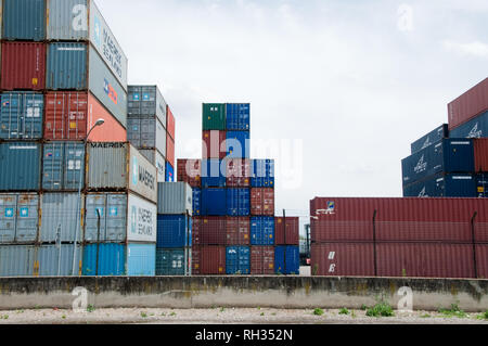 Port Edouard Herriot Lyon - Stock Photo