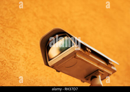 Outdoor CCTV security camera, surveillance and provate property protection - Stock Photo