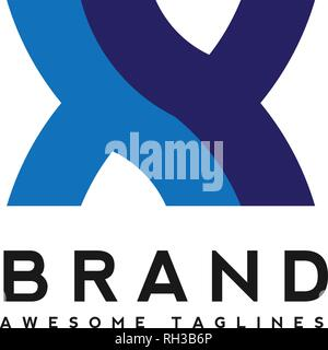 initial alphabet letter xy logo combination in blue  colors suitable for business and corporate identity - Stock Photo
