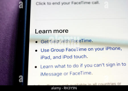 Apple facetime app logo icon on iPad apps logos icons Stock Photo