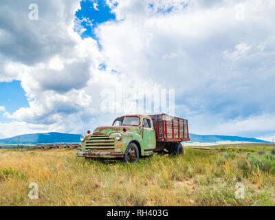 An old abandoned truck in North America - Stock Photo