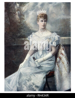 Mary of Teck, was Queen of the United Kingdom and the British Dominions and Empress of India as the wife of King George V. - Stock Photo