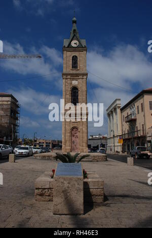 The Jaffa Clock Tower in the old part of Tel Aviv, Israel - Stock Photo