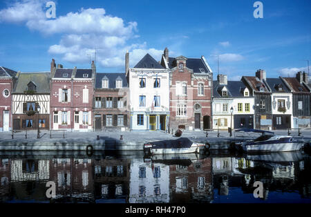 The River Somme in Amiens, Northern France. - Stock Photo