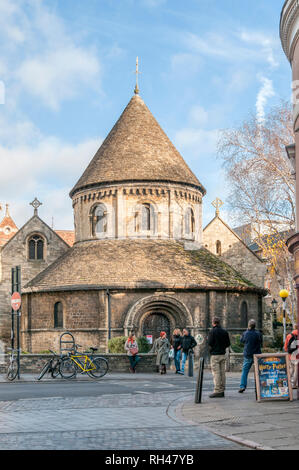 The Church of the Holy Sepulchre in Cambridge, usually known as The Round Church. - Stock Photo
