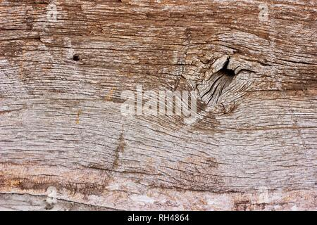 Weathered Wood Plank Macro Up Close Background Texture - Stock Photo