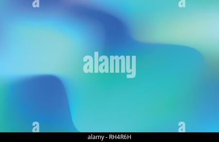 Abstract blue Holographic Background in pastel neon color design. Blurred wallpaper. Vector illustration for your modern style trends 80s 90s - Stock Photo