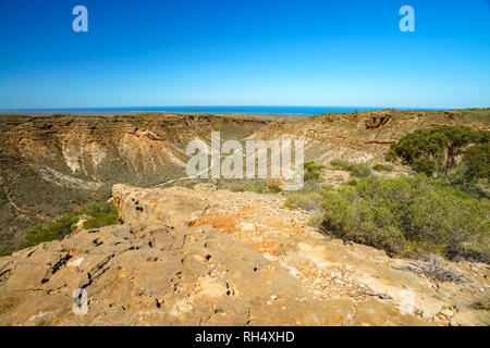 charles knife canyon near exmouth, coral coast, western australia - Stock Photo