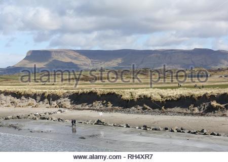 A view of Ben Bulben in Sligo, Ireland on a beautiful day - Stock Photo
