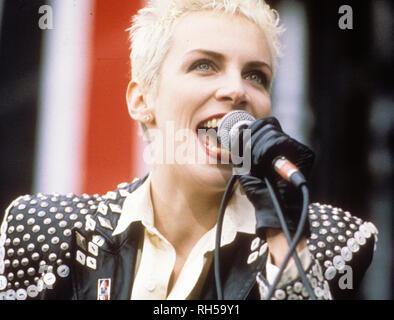 EURYTHMICS UK rock duo with Annie Lennox in 1987 - Stock Photo