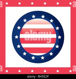 american flag banner patriotic symbol vector illustration - Stock Photo