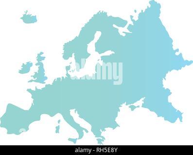 european union map on white background vector illustration - Stock Photo