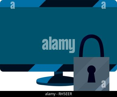 computer digital security protection copyright vector illustration - Stock Photo