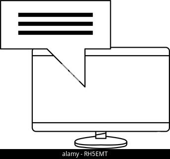 computer digital message protection copyright vector illustration - Stock Photo