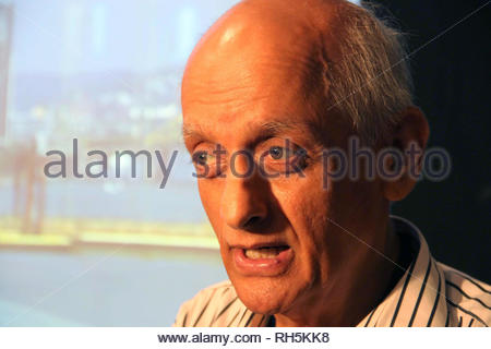 Bollywood filmmaker Mukesh Bhatt during a panel discussion on 'Building Bridges between creative communities & and priorities of our time' in Mumbai, India on July 18, 2013. (Amol Kamble) - Stock Photo
