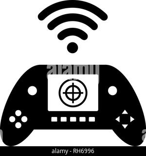 Vector remote control drone icon. Modern, simple flat vector illustration for web site or mobile app. Isolated on white. - Stock Photo