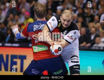 Hamburg, Deutschland. 25th Jan, 2019. firo: 25.01.2019, Handball: World Cup World Cup Semi Finals Semi Final Germany - Norway Paul Drux | usage worldwide Credit: dpa/Alamy Live News - Stock Photo