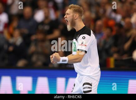 Hamburg, Deutschland. 25th Jan, 2019. firo: 25.01.2019, Handball: World Cup World Cup Semi Finals Semi Final Germany - Norway 25:31 gesture, Matthias Musche | usage worldwide Credit: dpa/Alamy Live News - Stock Photo