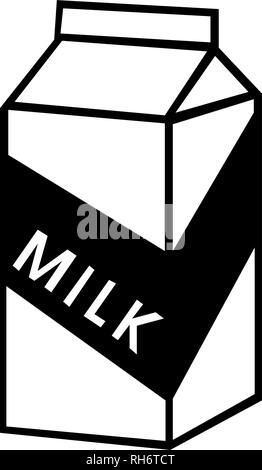 Milk pack line icon, outline vector sign, linear style pictogram isolated on white. Symbol, logo illustration. - Stock Photo