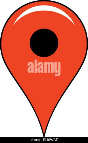 location pin icon. simple red location pin vector icon. on white background. - Stock Photo