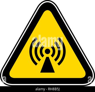 Triangular Warning Hazard Symbol - Stock Photo