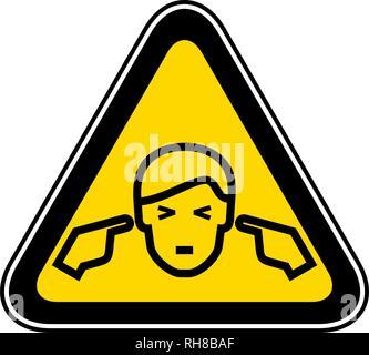 Triangular Warning Hazard Symbol - Stock Photo