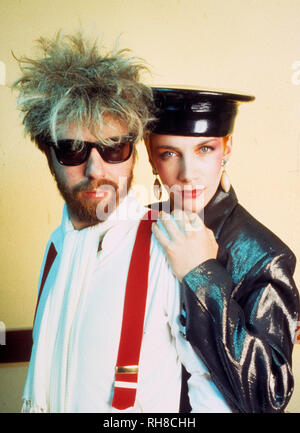 EURYTHMICS  UK pop duo of Annie Lennox and Dave Stewart about 1987 - Stock Photo