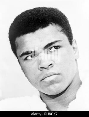 MUHAMMAD ALI - Cassius Clay - (1942-2016. American boxer in 1967. - Stock Photo