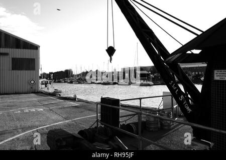 Medina Quay, Newport, Isle of Wight, England, UK. - Stock Photo