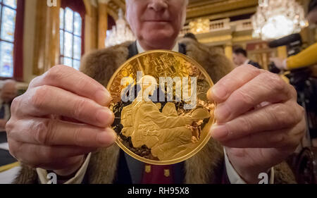London, UK. 29th Jan, 2019. The Trial of the Pyx at Goldsmiths Hall. Credit: Guy Corbishley/Alamy Live News - Stock Photo