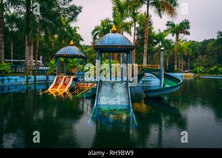 Dark tourism attraction Ho Thuy Tien abandoned waterpark, close to Hue city, Central Vietnam, Southeast Asia