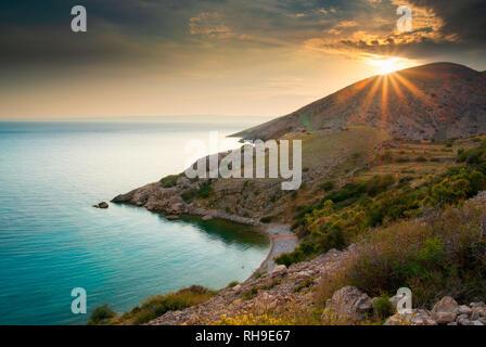 Bay near Stara Baska, Krk Island, Croatia - Stock Photo