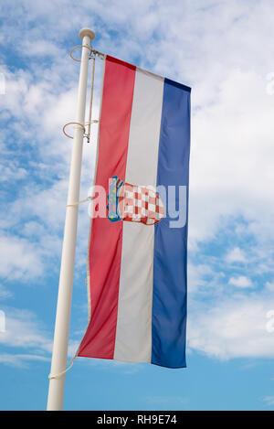 Croatia national flag - Stock Photo