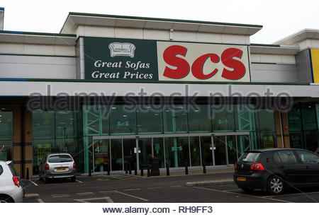 File photo dated 1/12/2008 of an SCS furniture store in Wednesbury, West Midlands. The furniture retailer has pulled out of the running to acquire Sofa.com, paving the way for Mike Ashley to get his hands on the group. - Stock Photo